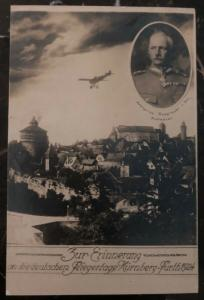 1924 Nuremberg Germany RPPC Postcard Cover The German Aviation Days