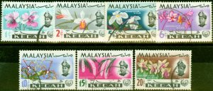 Kedah 1965 Flowers Set of 7 SG115-121 Fine Used