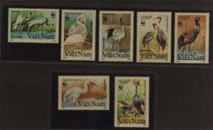 Vietnam 1991 Sc 2243-2249 WWF set MNH