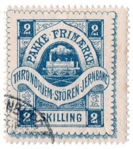 (I.B-CK) Norway Railway : Throndhiem-Storen Jernbane Parcels 2sk
