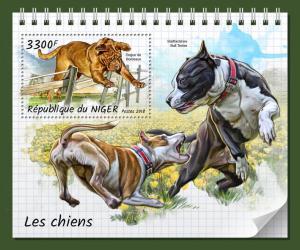 Z08 NIG18320b Niger 2018 Dogs MNH ** Postfrisch