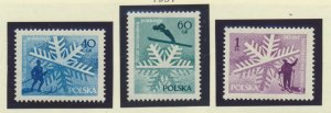 Poland Stamps Scott #758 To 760, Mint Hinged
