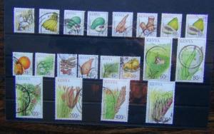 Kenya 2001 Crops set complete to 500s Used SG768 - SG785