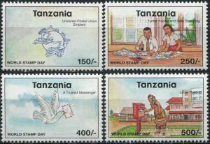 Tanzania 1998. World Stamp Day (MNH OG) Set of 4 stamps