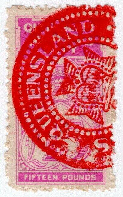 (I.B) Australia - Queensland Revenue : Impressed Duty £15