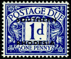 RHODESIA SGD2, 1d violet-blue, NH MINT.