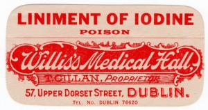 (I.B) Ireland Cinderella : Medicine Label (Liniment of Iodine)