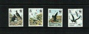 Ascension Island: 1990,  Endangered Species, Ascension Frigate Bird,  MNH set