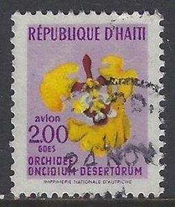 Haiti, Scott #C356; 2g Orchid, Used