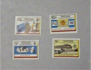 Tanzania - 221-24, MNH Set. Anniversary Posts, Telecommunications. SCV - $2.90