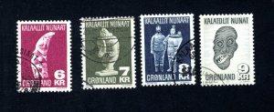Greenland 102-105  VF, Postally Used, CV $9.65 ...2510039