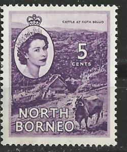 North Borneo # 265   5c  QE II - Cattle  (1)   VLH Unused