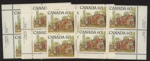 Canada USC #723C Mint Plate 2 MS VF-NH Cat.$34.00 1982 60c Ontario Street Scene
