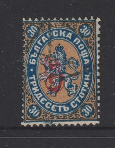 Bulgaria a used 5s on 30s from 1884