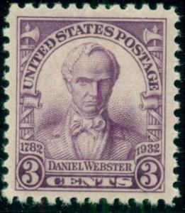 #725 3¢ DANIEL WEBSTER STAMPS LOT OF 400, MINT - SPICE UP YOUR MAILINGS!