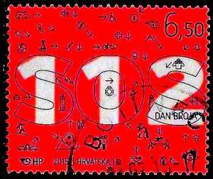 Croatia 939 Used - Number 112 Day - Emergency Telephone Number