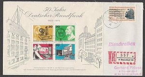 GERMANY 1974 Registered cover - nice franking...............................B375