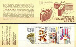Spain 1986 MNH Stamps Booklet Scott 2466a European Union Admission to Community