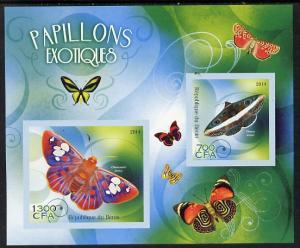 Benin 2014 Exotic Butterflies imperf sheetlet containing ...