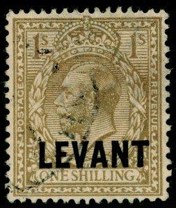 BRITISH LEVANT SGL23, 1s bistre-brown, FINE USED.