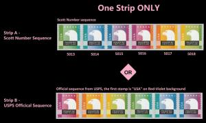 US 5018a Spectrum Eagle Presorted First-Class coil strip set MNH 2015