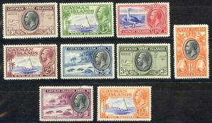 Cayman Islands Sc# 85-93 MH 19.5-19.6 King George V