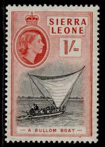 SIERRA LEONE QEII SG217, 1s black & scarlet, M MINT.