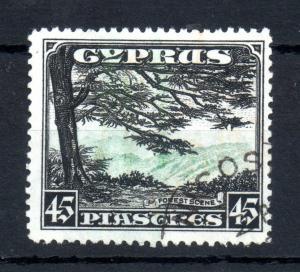 Cyprus KGV 1934 45pi good used SG#143 WS13608