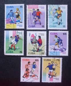 CUBA Sc# 4212-4219 WORLD CUP SOCCER / FOOTBALL  SET OF 8  2002 used /  cancelled