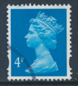 GB Machin 4p SG Y1669 SC# MH202 Used  2 Phosphor bands see scan /detail