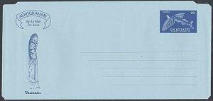 VANUATU 1981 20v Flying fish aerogramme - unused............................L150