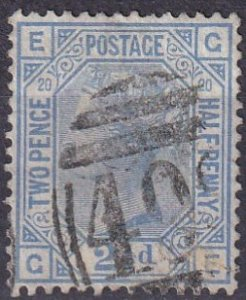 Great Britain #68 Plate 20 F-VF Used  CV $65..00 (Z4519)