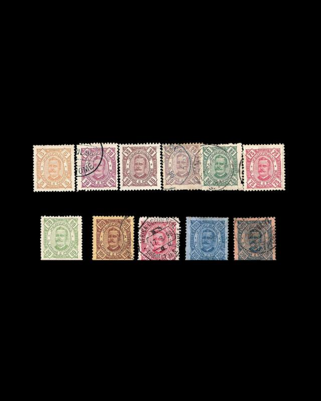 VINTAGE: ST THOME PRINCIPE -PORT1885 SC 27-38 OG/USD LOT  $39.75 1885X12