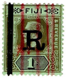 (I.B) Fiji Revenue : Stamp Duty 1/- (1922)