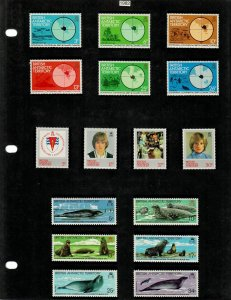 British Antarctic Territory 28 Stamps/1 Sheet MH/MNH (SCV $24.10) Starting at 5%
