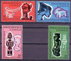 Kinshasa. 1966. 254-57. Black Culture Festival. MNH.