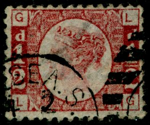 SG48, ½d rose-red plate 9, FINE USED, CDS. Cat £700. LG