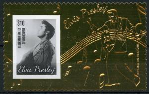MICRONESIA  2013 ELVIS PRESLEY GOLD FOIL STAMP MINT NH