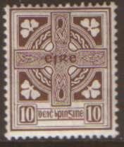 Ireland 10d opt SG81 used