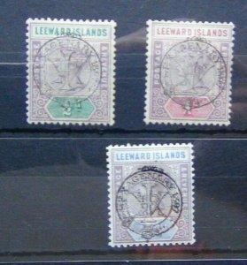 Leeward Islands 1897 Diamond Jubilee 1/2d 1d 2.5d MM