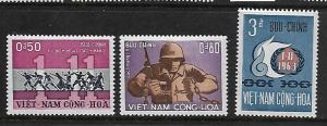 VIETNAM 244-246 MINT HING C/SET NOV 1ST AND REVOLUTIONISTS