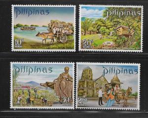 PHILIPPINES, 1074-1077, MNH, TOURIST PUBLICITY