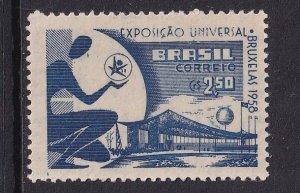 Brazil   #863  MNH   1958  world fair Brussels