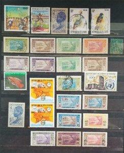 IVORY COAST Stamp Lot Used MH MNH T405