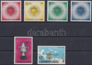 St. Christopher stamp Sport sets MNH 1975 Mi 301-304, 315-316 WS143130