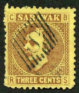 Sarawak SG2 3c brown/yellow Fine used