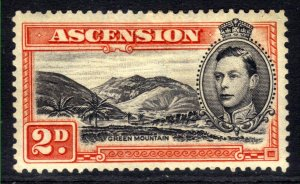 Ascension Island 1938 - 53 KGV1 2d Black & Vermilion MM SG 41a ( R601 )