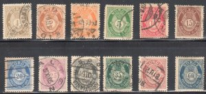 Norway #47 to 58 USED