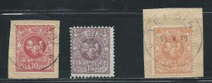 Lithuania 30a 31a 33a White Knight set Used