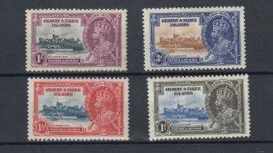 Gilbert & Ellice Island KGV 1935 Silver Jubilee Set SG36/39 MLH JK847